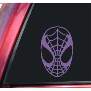 Spiderman Face Spidey Mask Vinyl Decal Sticker   Lavender
