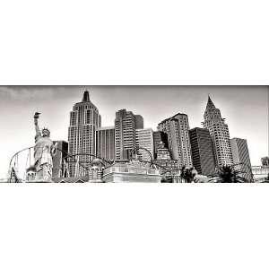 Hotel New York in Las Vegas, Panoramic Print, Canvas:  Home