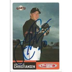Jason Christiansen Signed San Francisco Giants 2002 Topps
