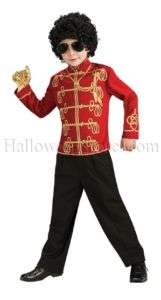 Michael Jackson Red Military Jacket Child Costume
