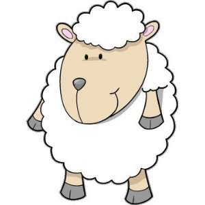 Sheep kids lovely car bumper sticker decal 4 x 5