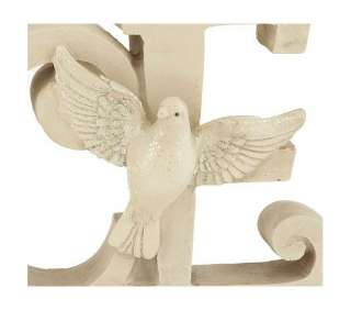 PEACE Accented Resin Christmas Greeting Sign Valerie Parr Hill