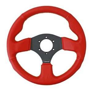 NRG Steering Wheel   12 (Race)   320mm (12.60 inches)   Red Leather
