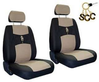 NEW TAN BLACK DRAGON CAR TRUCK SUV BUCKET SEAT COVERS COVER