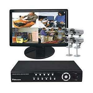 Real Time 240 FPS DVR, 500GB HDD, 4 X Indoor / Outdoor Night Vision IR