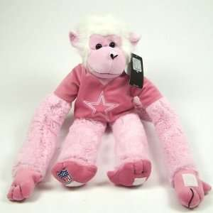 DALLAS COWBOYS OFFICIAL PINK RALLY MONKEY PLUSH TOY