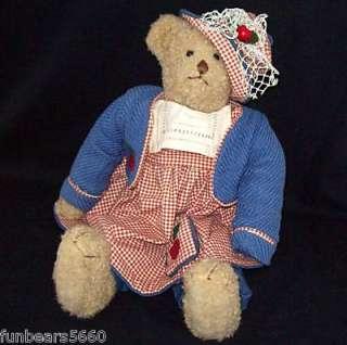 Bouquet Enterprises Vintage Country Teddy Bear Doll Large 20 Plush