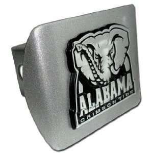 Univ. of Alabama (Crimson Tide) Brushed Chrome Hitch Cover Automotive