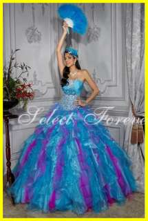 Ball Gowns Petticoat Prom dresses Blue Quinceanera dresses