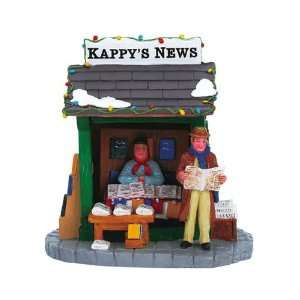 Lemax Christmas Village Collection Kappys Newsstand Table