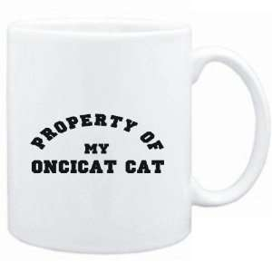 Mug White  PROPERTY OF MY Oncicat  Cats Sports