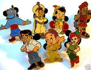 Disney CUTE TODDLER BOYS MINI PIN SET SEVEN PINS
