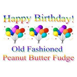 Labeled Gift Birthday Balloons Old Fashioned Peanut Butter Fudge Box