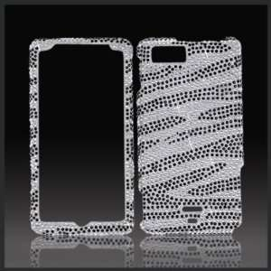 Silver & Black Zebra Cristalina crystal bling rhinestone