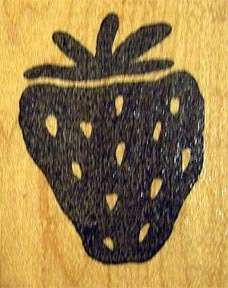 Hot Potatoes Bold Strawberry Fabric Rubber Stamp