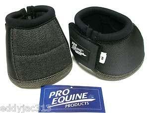 Pro Equine Ultra No Turn Bell Boots Black Medium 691119532058