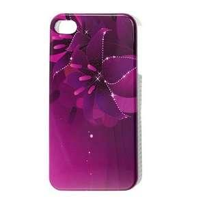 Gino Purple Fuchsia Flower Pattern IMD Hard Case Cover