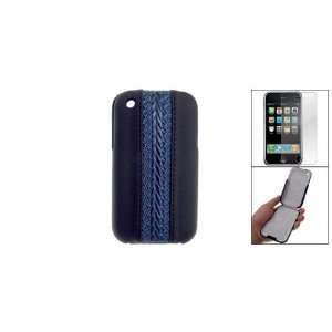 Gino Black Plastic Faux Leather Flip Case w Screen Guard