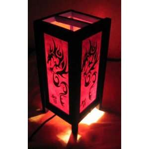 RED Dragon Thai Chinese Table Lamp Shades Made in Thailand