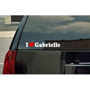 I Love Gabrielle Vinyl Decal   White with a red heart