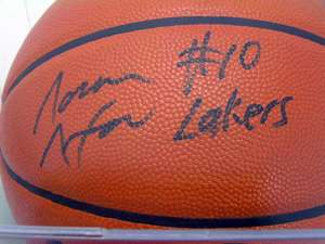 NORM NIXON SIGNED BASKETBALL LOS ANGELES LAKERS NBA