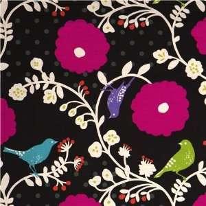 echino canvas fabric black Japan Etsuko Furuya (Sold in