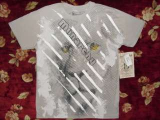 Monarchy Mens Gray Lion Stripe Shirt Size Small S Authentic Skull