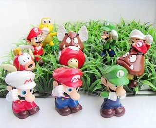 Set NINTENDO SUPER MARIO BROS Figure Key Chain 11pcs