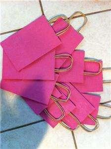 Pink 8 x 5 Paper Gift Shopping Bag rafia handle lot 10