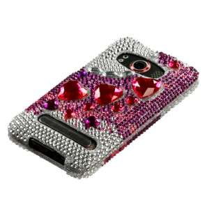 Crystal Diamond BLING Hard Case Phone Cover for Sprint HTC EVO 4G