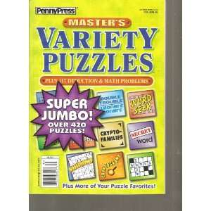 Penny Press Masters Variety Puzzles (Over 420 Puzzles, Volume 86 2011