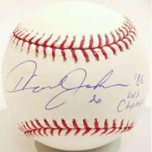 Howard Johnson Signed Rawlings MLB Baseball w/86 WS