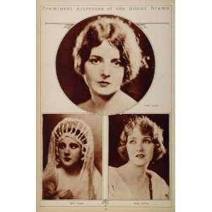 1923 Silent Film Stars Mary Astor Nita Naldi Mary Eaton