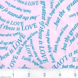 45 Wide Faith Hope Love Fabric By The Yard Arts, Crafts & Sewing