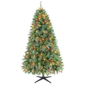 Jaclyn Smith 6.5ft Houston Mixed Pine Christmas Tree with Multi color