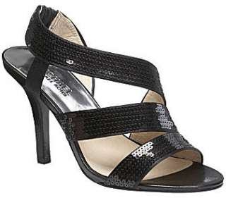 MICHAEL KORS FARRIS WOMENS DRESS / EVENING HEEL SEQUINED STRAPPY