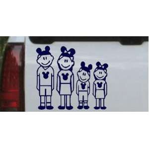 6in X 5.4in Navy    Mickey Mouse Disney 2 Kids Stick Family Stick