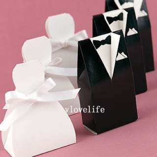 40 Tuxedo Wedding Dress Gown Favor Boxes Gift Boxes