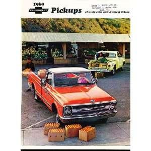 1969 Chevrolet Truck Pickup Sales Brochure Camper