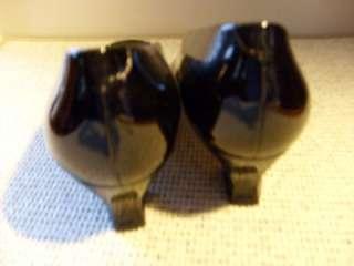 Womens Liz Claiborne Black Patent Leather Pumps 8.5 M