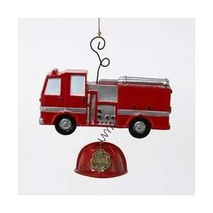 Club Pack of 12 Red Fire Engine Truck and Hat Christmas