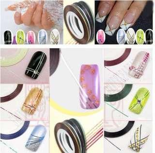10 Pcs Rolls Strip Tape Nail Art Decoration Line Stickers