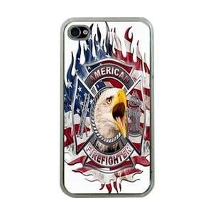 American FireFighter iPhone 4 Hard Plastic Case Cover