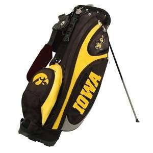 NCAA Iowa Hawkeyes Black Gold Gridiron Stand Golf Bag