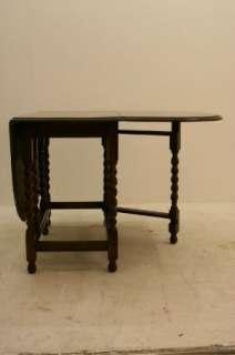 Nice Large Gateleg Solid Oak Barley Twist Dining Table