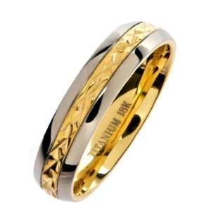 Titanium Wedding Ring Band Comfort Fit 5mm Size 4 Metals Jewelry