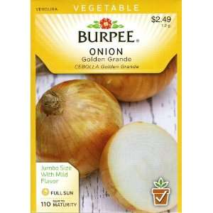 Burpee 52796 Onion Golden Grande Seed Packet Patio, Lawn