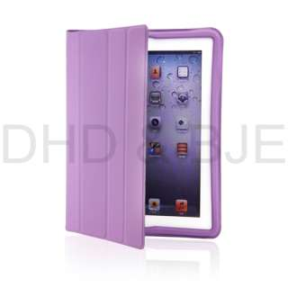 New iPad 2 Magnetic Smart Cover polyurethane Leather Case Ultra Slim