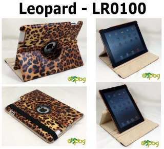 New iPad 3 360° Stylish Rotating Magnetic Leather Case Smart Cover