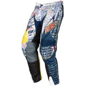 Collection DotCom Mens Off Road Motorcycle Pants   Blue/Red / Size 28